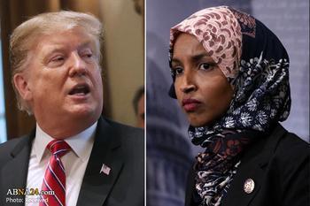 عصبانیت ترامپ از نماینده مسلمان ِمنتقد اسرائیل/ او باید استعفا دهد!