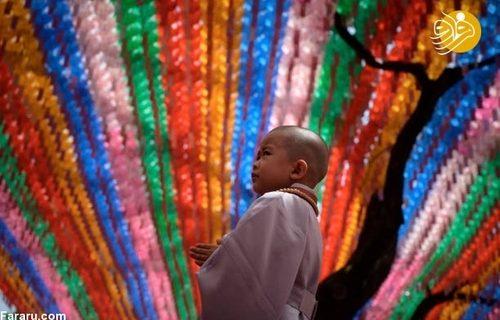 مراسم آماده سازی کودکان برای راهب شدن
