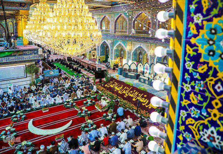 جزءخوانی قرآن در حرم قمر بنیهاشم(ع)