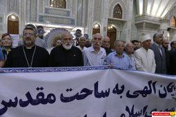ادای احترام پیروان ادیان الهی به مقام شامخ امام مراحل