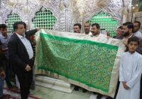 وزیر دفاع هند هدیهای به حرم امام حسین (ع) فرستاد + تصاویر