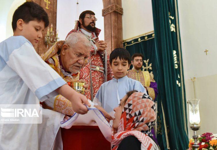گزارش تصویری/مراسم عید عروج حضرت مریم در کلیسای مریم مقدس