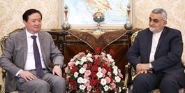 دیدار سفیر چین در تهران با رئیس گروه دوستی پارلمانی جمهوری اسلامی ایران و چین