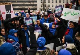 حضور فعالان زنان مسلمان در راهپیمایی زنان واشنگتن