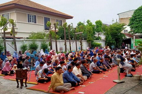نماز عید قربان در نقاط مختلف تایلند برگزار شد+ تصاویر