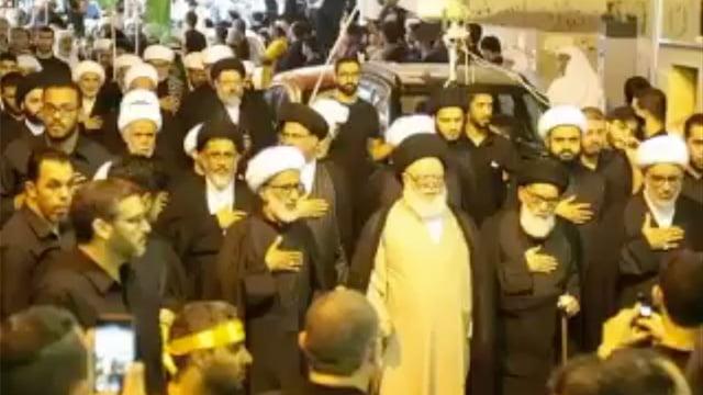 راهپیمایی سنتی روحانیون شیعه بحرین در روز عاشورا