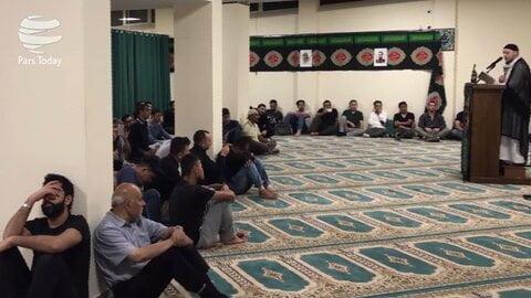 مراسم سوگواری حسینی(ع) در انجمن المهدی(عج) شهر رم