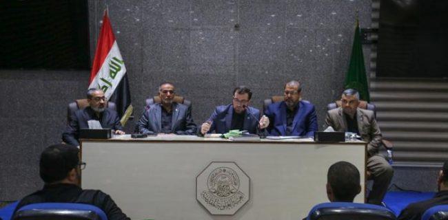 نشست کمیته عالی آستان مطهر علوی برای مراسم اربعین حسینی(ع)