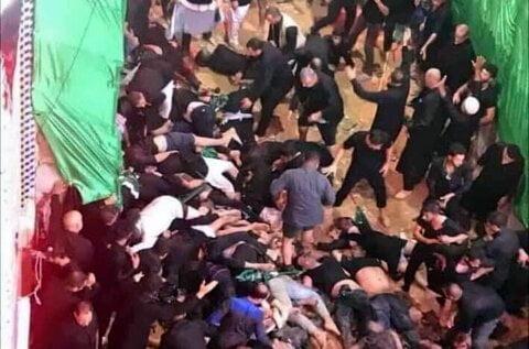 کشته شدن ۳۱ زائر حسینی بر اثر ازدحام جمعیت در کربلا+ فیلم