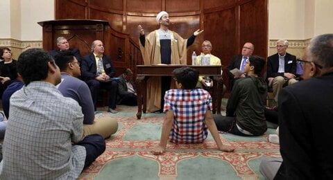 مراسم میان ادیانی به مناسبت ۱۰ سال فعالیت مسجد وودلندز آمریکا