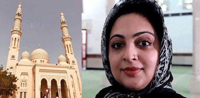 بازدید پیروان ادیان مختلف از مسجدی در دوبی / بازیگر مشهور هندی از مسجد جمیرا دیدن کرد