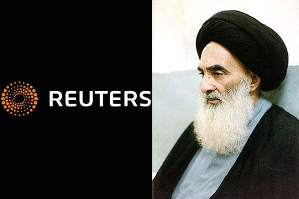 تفسیر بدخواهانه خبرگزاری بریتانیایی رویترز از سخنان آیتالله سیستانی