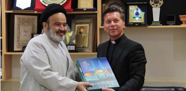 پروفسور بوگنیار با ریاست دانشگاه ادیان و مذاهب دیدار کرد