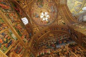 تلفیق هنر ایرانی، اسلامی و مسیحی در کلیسای وانک