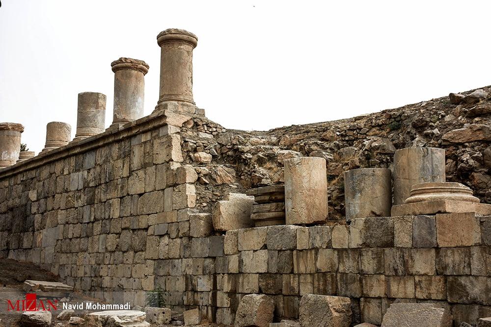گزارش تصویری از معبد آناهیتا؛ بنای تاریخی شهر کنگاور