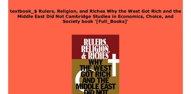 چرا غرب ثروتمند شد و خاورمیانه نشد؟